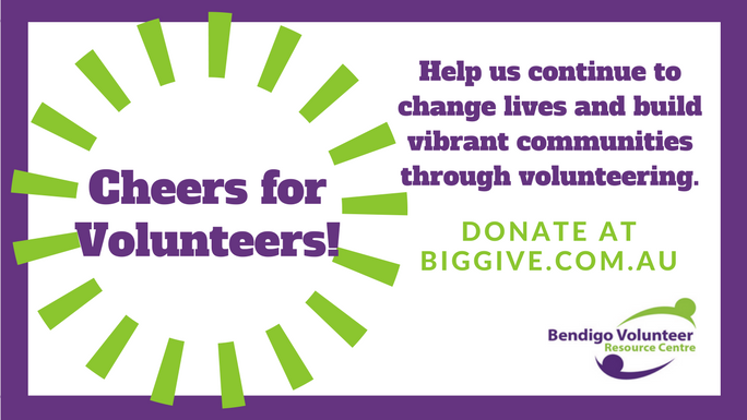 Cheers for Volunteers! - donate at chuffed.org/project/cheers-for-volunteers
