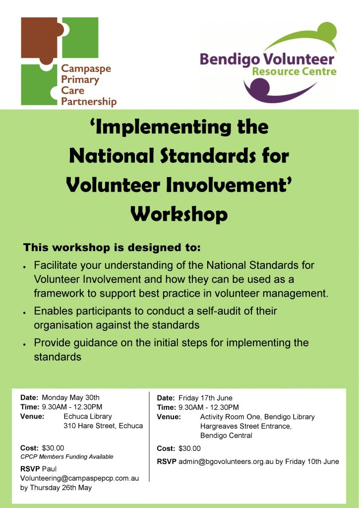 Implementing the National Standards for Volunteer Involvement Poster